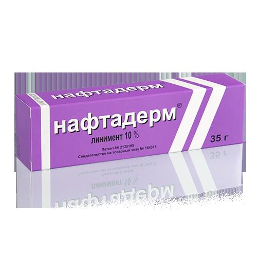 Нафтадерм, Нафталанская нефть, линимент, негормональная терапевтика заболеваний кожи